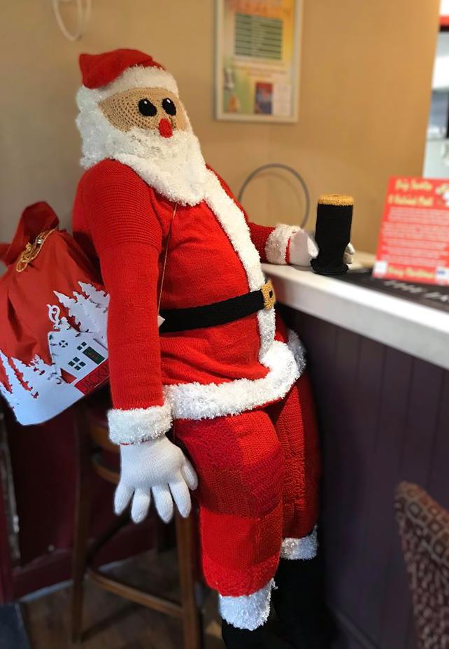 Knitted Santa at the Pub Main Image